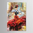 povoljno Slike krajolika-Hang oslikana uljanim bojama Ručno oslikana - Sažetak Moderna Uključi Unutarnji okvir / Prošireni platno