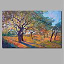 billiga Abstrakta målningar-Hang målad oljemålning HANDMÅLAD - Abstrakt Landskap Samtida Moderna Inkludera innerram / Valsad duk / Sträckt kanfas