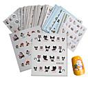 ราคาถูก สติกเกอร์ติดเล็บ-44 pcs 3D สติ๊กเกอร์สำหรับเล็บ Water Stick Sticker Santa Suits / Christmas Tree เล็บ ทำเล็บมือเล็บเท้า มัลติฟังก์ชั่ / คุณภาพที่ดีที่สุด แฟชั่น
