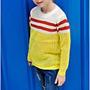 ราคาถูก การโกนและกำจัดขน-เด็ก เด็กผู้หญิง พื้นฐาน ทุกวัน สีพื้น แขนยาว ฝ้าย เสวตเตอร์และคาร์ดิแกน สีเหลือง