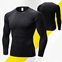 Χαμηλού Κόστους Ρούχα τρεξίματος-Ανδρικά Tricou de Alergat Ελαστίνη Αθλητισμός Χειμώνας Εσώρουχα Στρώμα βάσης Ρούχα συμπίεσης Γιόγκα Τρέξιμο Fitness Αναπνέει Γρήγορο Στέγνωμα Ανατομικός Σχεδιασμός Συμπαγές Χρώμα / Υψηλή Ελαστικότητα