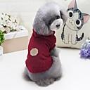 ราคาถูก วง Smartwatch-สุนัข แมว เสื้อกันหนาว ฤดูหนาว Dog Clothes สีบานเย็น ฟ้า สีเทา เครื่องแต่งกาย จำพวกทอง แกะชายแดน Corgi ทำด้วยผ้าขนสัตว์ สีพื้น ตัวอักษรและจำนวน ง่าย / ประจำวัน Warm Ups S M L XL XXL