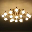 povoljno Svijeće i svijećnjaci-ZHISHU sputnjik / Geometrijski Flush Svjetla Ambient Light Electroplated Metal Glass LED, New Design 110-120V / 220-240V Meleg fehér / Bijela