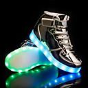 ราคาถูก รองเท้า LED-เด็กผู้ชาย Light Up รองเท้า PU รองเท้าผ้าใบ เด็ก / วัยรุ่น สีเงิน / ฟ้า / สีชมพู ตก / ยาง