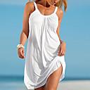 povoljno Party pokrivala za glavu-Žene Plaža Shift Haljina Jednobojni S naramenicama Mini Bijela