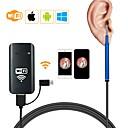 """זול טסטרים וגלאים-3.9mm 3 ב 1 wifi תיבת USB USB חזותית אנדוסקופ אוזן כף מצלמה otoscope borescope כלי 1500 מ""""מ - כחול"""