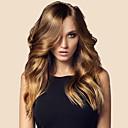 ราคาถูก วิกผมจริง-ผม Remy มีลูกไม้ด้านหน้า วิก ตอนกลาง Kardashian สไตล์ ผมบราซิล Wavy น้ำตาล วิก 150% Hair Density 20 inch ผมเด็ก Pre-ดึง บลัช สำหรับผู้หญิง ยาว วิกผมแท้ WoWEbony