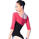 Χαμηλού Κόστους Παιδικά Ρούχα Χορού-Μπαλέτο Φορμάκια Γυναικεία Εκπαίδευση / Επίδοση Βαμβάκι / Spandex Διαφορετικά Υφάσματα Μισό μανίκι Φορμάκι / Ολόσωμη φόρμα