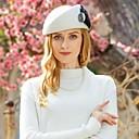 billige Hårpleie og styling-100% Ull Kentucky Derby Hat / Hatter med Fjær 1pc Avslappet / Dagligdagstøy Hodeplagg