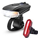 olcso Kerékpár világítás-LED Kerékpár világítás Újratölthető biciklilámpa Kerékpár első lámpa Kerékpár hátsó lámpa Hegyi biciklizés Kerékpár Kerékpározás Vízálló Többféle üzemmód Intelligens indukció Fényérzékelő / ABS
