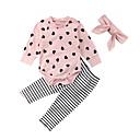 billige Sett med babyklær-Baby Jente Grunnleggende Daglig Geometrisk Langermet Normal Normal Tøysett Rosa