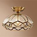 billige Taklamper-Bowl Takplafond Omgivelseslys Messing Metall Glass Kreativ 110-120V / 220-240V Varm Hvit