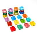 billiga Kit-24-pack kylskåps magneter söta kylskåp magneter kök färgglada magneter dekorativa kontor magneter roliga glas magneter whiteboard torra raderade magneter