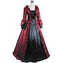 זול תחפושות מהעולם הישן-רוקוקו ויקטוריאני המאה ה 18 שמלות תחפושת למסיבה נשף מסכות בגדי ריקוד נשים תחרה כותנה תחפושות וינטאג Cosplay שרוול ארוך ארוך נשף / פרחוני