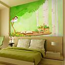 Χαμηλού Κόστους Τοιχογραφία-ταπετσαρία / Τοιχογραφία Καμβάς Κάλυψης τοίχων - κόλλα που απαιτείται Δένδρα / φύλλα / Μοτίβο / 3D