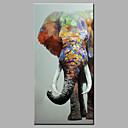 povoljno Slike sa životinjskim motivima-Hang oslikana uljanim bojama Ručno oslikana - Sažetak Pop art Klasik Moderna Bez unutrašnje Frame / Valjani platno