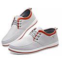 baratos Tênis Masculino-Homens Sapatos Confortáveis Lona / Linho Outono Casual Tênis Não escorregar Preto / Azul / Cinzento