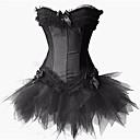 cheap Historical & Vintage Costumes-Black Swan Vintage Little Black Dress Elegant Dress Masquerade Women's Tulle Costume Black / White / Red Vintage Cosplay Sleeveless