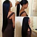 Χαμηλού Κόστους Θήκες iPhone-Αγνή Τρίχα Remy Τρίχα Δαντέλα Μπροστά Περούκα Με αλογοουρά στυλ Περουβιανή Ίσιο Φυσικό Περούκα 150% Πυκνότητα μαλλιών με τα μαλλιά μωρών Μεταξένιο Για μαύρες γυναίκες 100% παρθένα Λευκανθέντες κόμπους