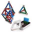 povoljno LED rasvjetne cijevi-63 pcs 24*4mm, 8mm Magnetne igračke Magnetske kuglice Magnetne igračke Kocke za slaganje Snažni magneti Magnetska igračka Metalik S magnetom Stres i anksioznost reljef Uredske stolne igračke Oslobađa