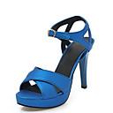 povoljno Ženske sandale-Žene PU Ljeto Sandale Stiletto potpetica Otvoreno toe Kopča Srebro / Zelen / Plava / Vjenčanje / Zabava i večer