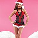 ราคาถูก ชุดซานตา&เดรสคริสต์มาส-ชุดฟอร์ม เครื่องแต่งกาย ชุดวันคริสต์มาส ซานต้าผ้า ผู้ใหญ่ มัธยม สำหรับผู้หญิง เซ็กซี่ คริสมาสต์ วันคริสต์มาส วันฮาโลวีน เทศกาลคานาวาล Festival / Holiday สเปนเดก เส้นใยสังเคราะห์ แดง ชุดเทศกาลคานาวาว