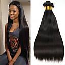 hesapli Gerçek Saç Örgüleri-3 Paket Hintli Saçı Düz Gerçek Saç İşlenmemiş Gerçek Saç Başlık İnsan saç örgüleri Saç Bakımı Niteliği 8-28 inç Doğal Renk İnsan saç örgüleri Şelale Sevimli Rahat İnsan Saç Uzantıları / 8A