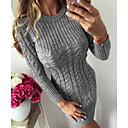 Χαμηλού Κόστους Αντρικές Μπότες-Γυναικεία Βασικό Πολύ στενό Εφαρμοστό Πλεκτά Φόρεμα Πλεκτό Στριφτό Ως το Γόνατο