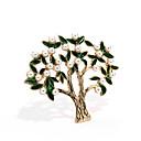 Χαμηλού Κόστους Μοδάτο Κολιέ-Γυναικεία Καρφίτσες Δέντρο της ζωής δέντρο ζωής κυρίες Μοντέρνο Μαργαριτάρι Χρυσό Καρφίτσα Κοσμήματα Σκούρο πράσινο Για Δρόμος