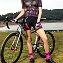 ราคาถูก เสื้อปั่นจักรยาน-SANTIC สำหรับผู้หญิง Cycling Padded Shorts จักรยาน แป้นสั้น กางเกง ระบายอากาศ กีฬา Elastane ฟ้า / สีชมพู ขี่จักรยานปีนเขา Road Cycling เสื้อผ้าถัก Race Fit Cycling Clothing / ยืด
