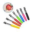 povoljno Zidni satovi-korač od jabuka od nehrđajućeg čelika kruška voće povrće alati jezgra sjemena uklanjanje rezač kuhinja naprava alati slučajan boja