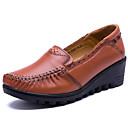 ราคาถูก รองเท้าผ้าใบผู้ชาย-สำหรับผู้หญิง รองเท้าส้นเตี้ยทำมาจากหนังและรองเท้าสวมแบบไม่มีเชือก รองเท้าส้นตึก แน๊บป้า Leather วินเทจ / ไม่เป็นทางการ ฤดูใบไม้ผลิ & ฤดูใบไม้ร่วง สีดำ / สีน้ำตาล / ไวน์ / ทุกวัน