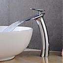 ราคาถูก ก๊อกอ่างล้างหน้าในห้องน้ำ-ก๊อกน้ำอ่างล้างจานห้องน้ำ - น้ำตก มีสี ตัวเจาะนำศูนย์ จับเดี่ยวหนึ่งหลุมBath Taps
