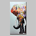 Χαμηλού Κόστους Πίνακες με Ζώα-Hang-ζωγραφισμένα ελαιογραφία Ζωγραφισμένα στο χέρι - Αφηρημένο Ποπ Άρτ Μοντέρνα Περιλαμβάνει εσωτερικό πλαίσιο / Επενδυμένο καμβά