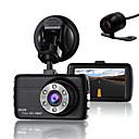Χαμηλού Κόστους Απλίκες Τοίχου-διπλή κάμερα dash cam κάμερα dvr αυτοκίνητο για τους οδηγούς πλήρη hd 1080 p κάμερα καταγραφής με αισθητήρα g νυχτερινής όρασης