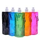 billige Novelty drikkeredskaper-fleksibel vannpose utendørs sport sammenleggbar sammenleggbar vannflaske