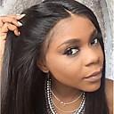 povoljno Perike s ljudskom kosom-Remy kosa 13x6 Zatvaranje Lace Front Perika Duboko udaljavanje Kardashian stil Brazilska kosa Ravan kroj Natural Perika 150% 250% Gustoća kose 10-24 inch s dječjom kosom Prirodna linija za kosu