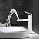 זול ברזים לחדר האמבטיה-חדר רחצה כיור ברז - ניתן לסיבוב / עיצוב חדש גימור צבוע רכוב על סיפון חור ידית אחת אחתBath Taps