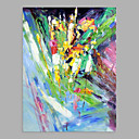 baratos Pinturas Abstratas-Pintura a Óleo Pintados à mão - Abstrato Modern Sem armação interna / Lona Laminada