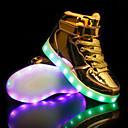 billige LED Sko-Gutt LED / Lysende sko PU Treningssko Barn / Teenager Gull / Sølv / Rosa Høst / Gummi