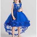 Χαμηλού Κόστους Φορέματα για κορίτσια-Παιδιά Κοριτσίστικα Βασικό Μονόχρωμο Μακρυμάνικο Φόρεμα Βαθυγάλαζο / Βαμβάκι
