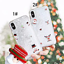 cheap iPhone Cases-Case For Apple iPhone XS / iPhone XR / iPhone XS Max Flowing Liquid / Pattern Back Cover Christmas Hard PC