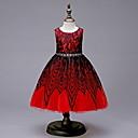 Χαμηλού Κόστους Φορέματα για κορίτσια-Παιδιά Κοριτσίστικα Γλυκός Μονόχρωμο Αμάνικο Φόρεμα Ρουμπίνι