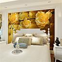 povoljno Zidne tapete-tapeta / Mural Platno Zidnih obloga - Ljepila potrebna Cvjetni print / Art Deco / 3D