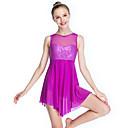 Χαμηλού Κόστους Ρούχα για μπαλέτο-Μπαλέτο Φορέματα Γυναικεία Επίδοση Ελαστικό / Ύφασμα Κολύμβησης / Λίκρα Παγιέτες Αμάνικο Ψηλό Κοσμήματα Μαλλιών / Φόρεμα