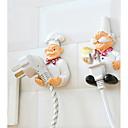 Χαμηλού Κόστους Βάζα & Κουτιά-2pcs χαριτωμένο σεφ εαυτό συγκολλητικό τοίχο υποδοχή υποδοχή αγκίστρι κρεμάστρα κουζίνας