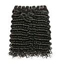 povoljno Ekstenzije od prave kose prirodne boje-3 paketa Peruanska kosa Water Wave Remy kosa Ljudska kosa Headpiece Styling kose Bundle kose 8-28 inch Crna Prirodna boja Isprepliće ljudske kose Svilenkast Smooth Moda Proširenja ljudske kose / 10A
