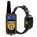 billiga Kragar, selar och koppel-Hund Halsband Träning anti Bark Elektrisk LCD Fjärrstyrd Ljud Vibration Klassisk Metallisk Plast Svart