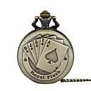 billiga Nyckelring klocka-Herr Par Fickur Quartz Brons Vardaglig klocka Häftig Ramtyp Vintage Ledigt - Brons