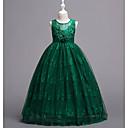 Χαμηλού Κόστους Φορέματα για κορίτσια-Νήπιο Κοριτσίστικα Γλυκός Παραλία Γεωμετρικό Αμάνικο Μακρύ Φόρεμα Λευκό